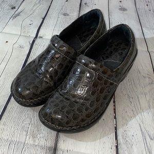 Born Snake Skin Clogs Mules Grey Black 7.5 EUC
